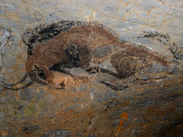 Jeskyne Pekarna Jeskyne Krasy Kresba Byka Napodobenina Foto 2